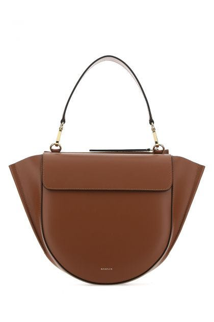 Brown leather medium Hortensia handbag