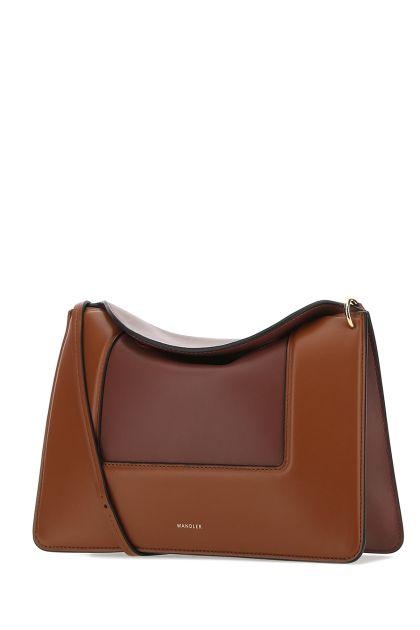 Two-tone leather Penelope shoulder bag