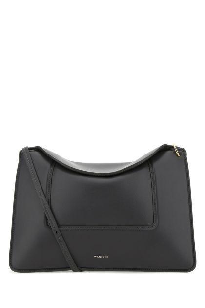 Dark grey nappa leather Penelope shoulder bag