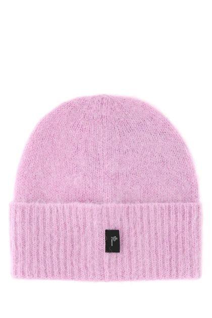 Lilac alpaca blend beanie hat