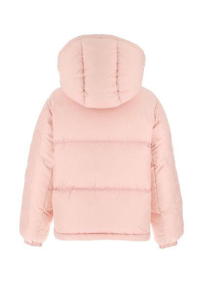 Pink nylon blend down jacket