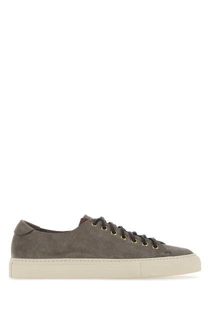 Dove grey suede sneakers