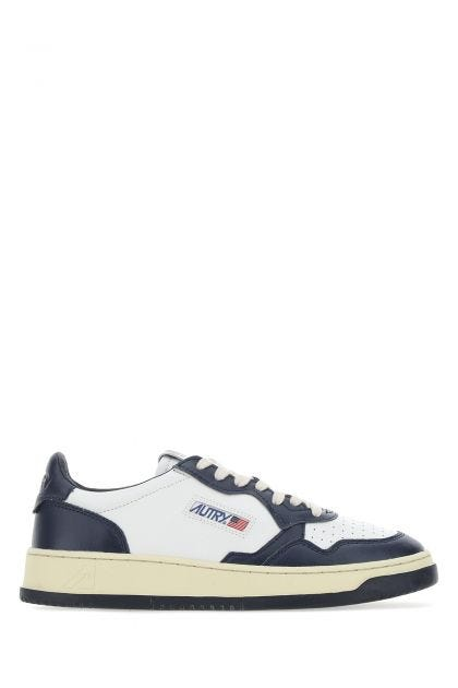Two-tone leather Low Man sneakers