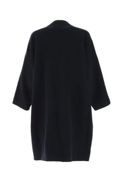 Blue wool blend La Scala reversibile coat