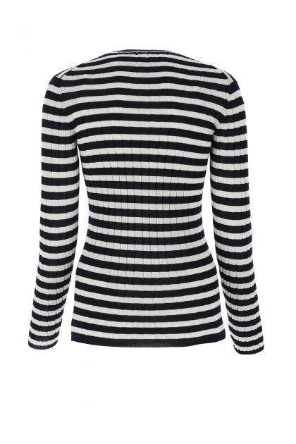 Two-tone cashmere top