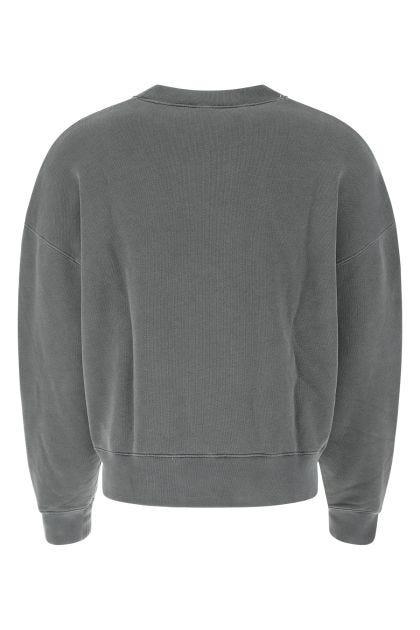 Graphite cotton oversize sweatshirt
