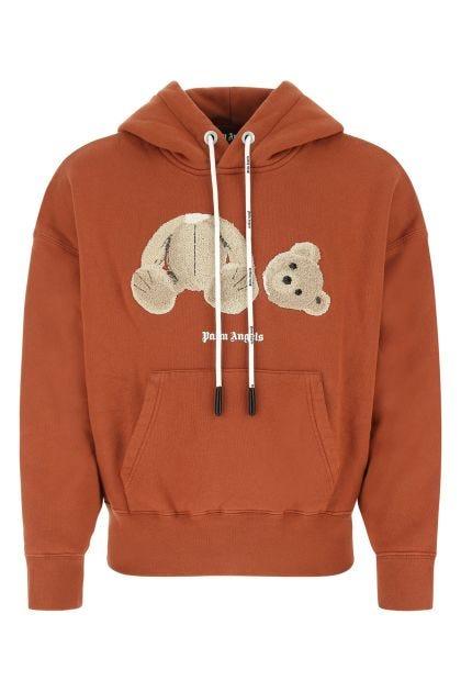 Dark orange cotton oversize sweatshirt