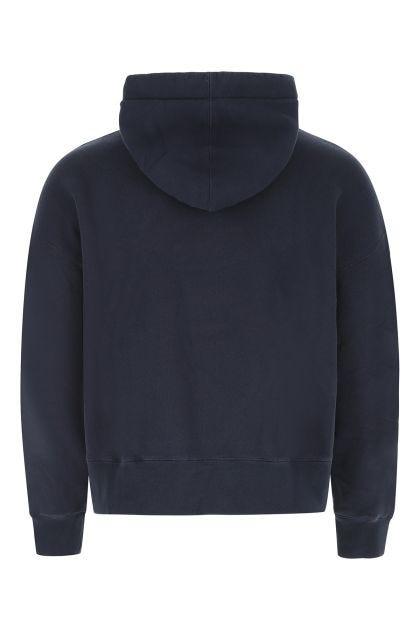 Dark blue cotton oversize sweatshirt