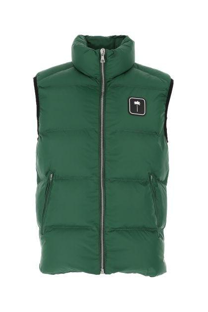 Dark green nylon padded jacket