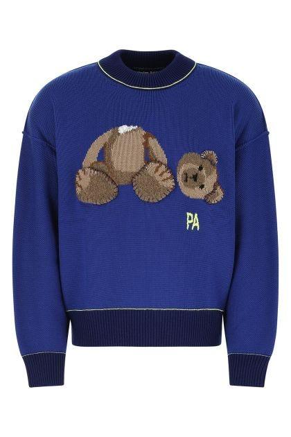 Blue virgin wool oversize sweater