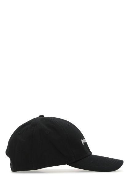 Black cotton Logo baseball cap
