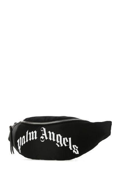 Black nylon blend belt bag