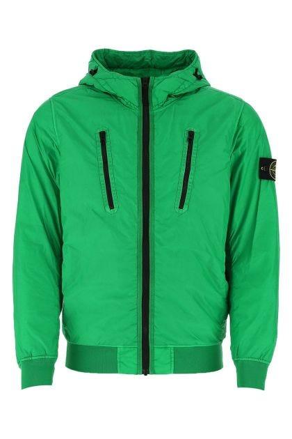 Green nylon padded jacket