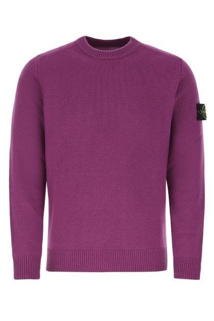 Amethyst wool blend oversize sweater