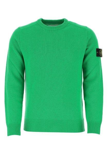 Green wool blend oversize sweater