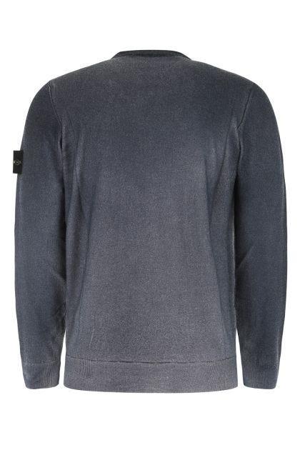 Blue denim wool sweater