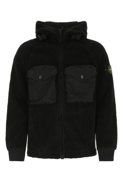 Black pile sweatshirt