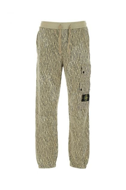 Printed cotton joggers