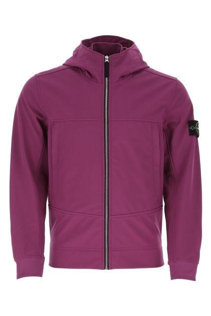 Light purple polyester stretch windbreaker