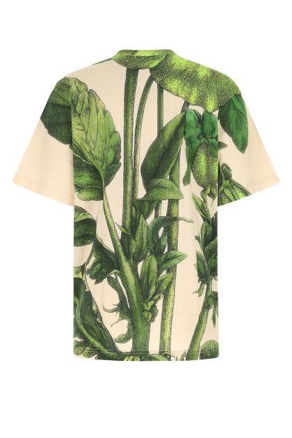 Printed cotton oversize t-shirt