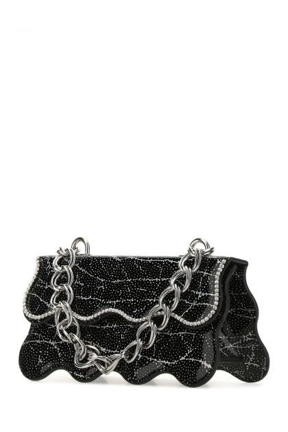 Two-tone leather shoulder bag