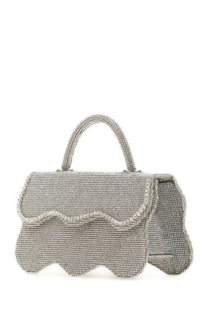 Embellished leather handbag