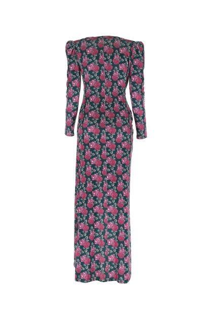 Printed stretch chenille dress