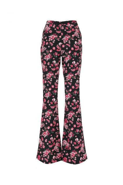 Printed stretch polyester pant
