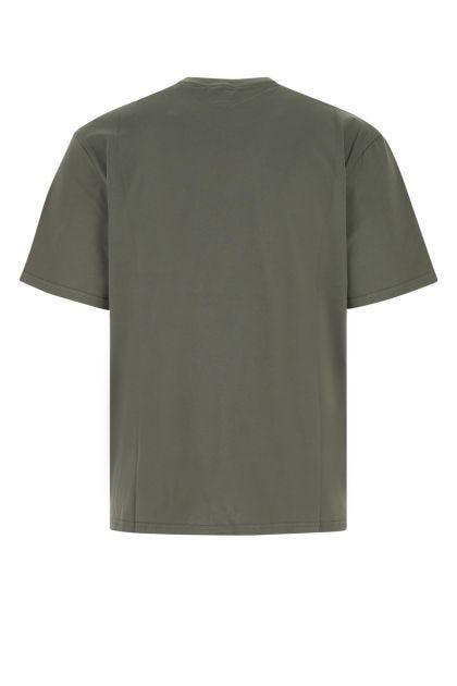 Army green cotton t-shirt