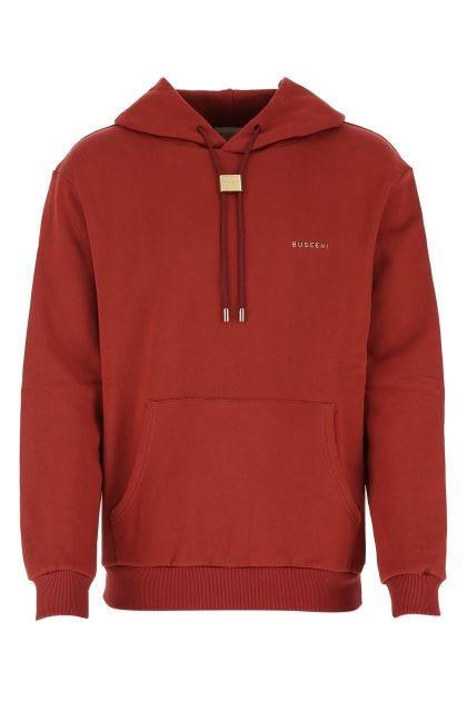 Tiziano red cotton sweatshirt
