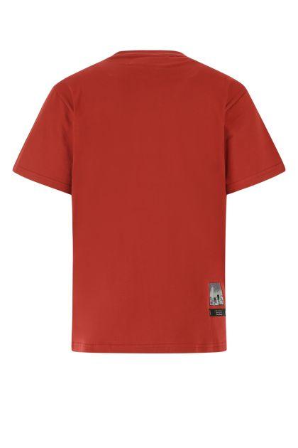 Dark red cotton t-shirt