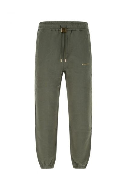 Army green cotton joggers