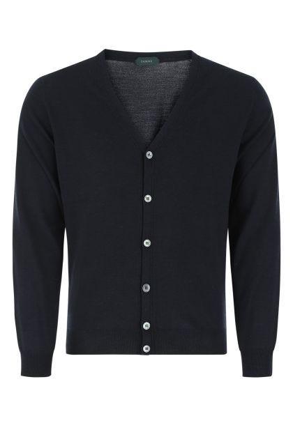 Midnight blue wool cardigan