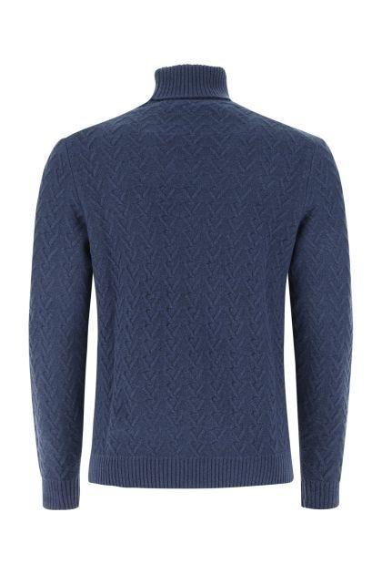 Blue wool blend sweater