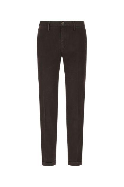 Dark brown stretch cotton Mucha pant