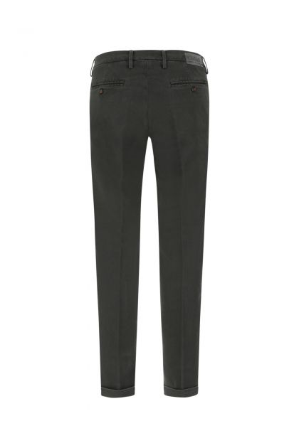 Dark grey stretch cotton blend Tencel pant