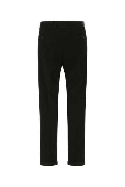 Black stretch cotton blend Mucha pant