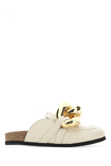 Sand leather Chain mules