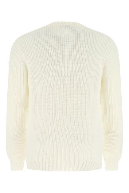 White wool blend sweater