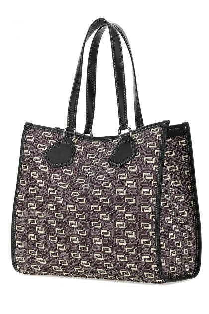 Printed canvas large Cabas shopping bag