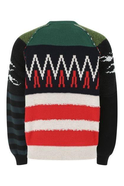 Multicolor wool blend oversize sweater