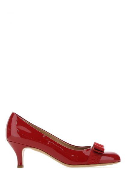 Red leather Carla 55 pumps