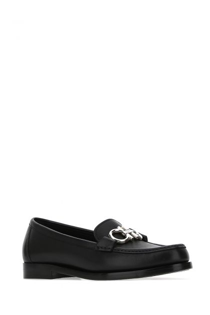 Black leather Rolo loafers
