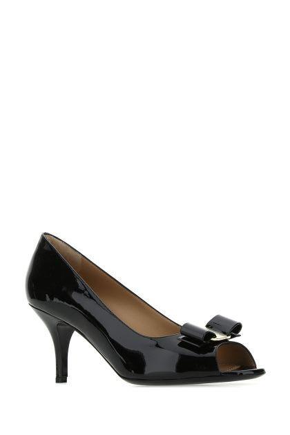 Black leather Lapua pumps