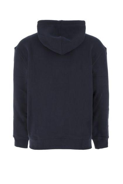 Midnight blue cotton blend oversize sweatshirt