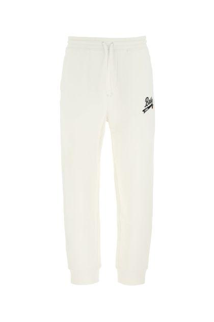 Ivory cotton blend joggers