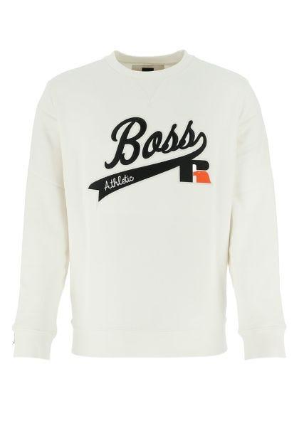 Ivory cotton blend sweatshirt