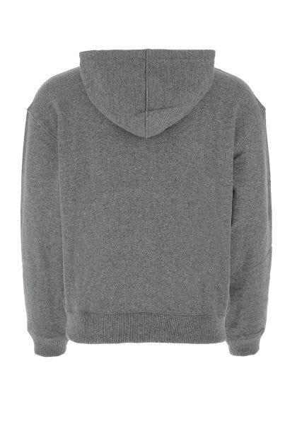 Melange grey wool blend sweatshirt