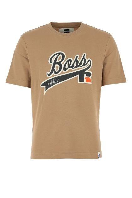 Biscuit stretch cotton t-shirt