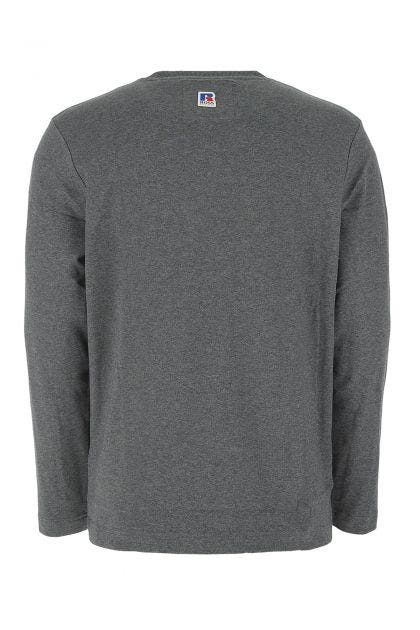 Melange grey stretch cotton t-shirt